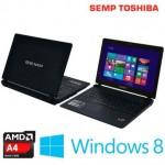 """semptoshibanotebook 150x150 - Notebook Semp com Processador AMD A4-5000 Quad Core, Tela 14"""", 4GB de Memória, 500GB de HD, DVD-RW, HDMI e Windows 8.1 - NA1402 NVZ SA4A"""