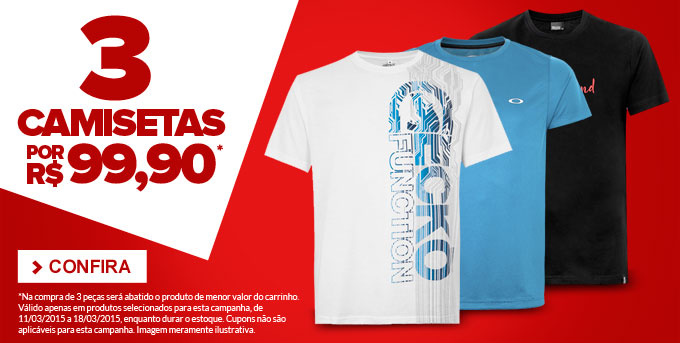 6376b1e440870 Dafiti Sports - 3 Camisetas por R 99,90! - Pirata dos Descontos