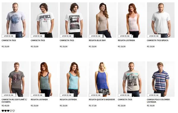 4por991 - Zattini - 4 Peças por R$100,00 ( Polos, Camisetas, Blusas, Camisas, Regatas)