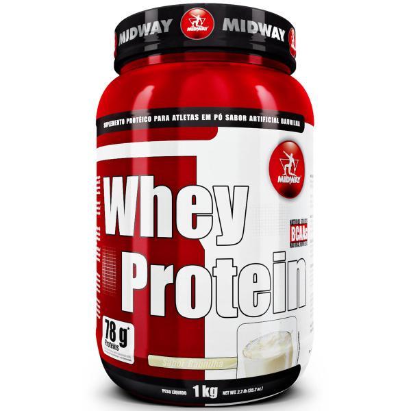 CMMphzaWIAAXpmP - 2 Wheys Protein 1KG - Midway - 2 KG no total por apenas R$ 94,37 no Boleto - Use o Cupom 50off