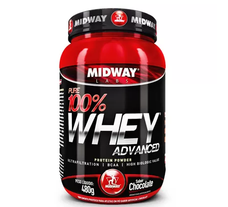 midiway - 4 Unidades - Pure Whey Advanced Protein 100% 480 g - Midway R$ 157,61