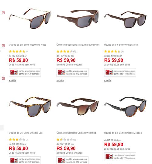 9c18df2981907 oculosdesol - Americanas - Saldão de Óculos de Sol - a partir de R  59
