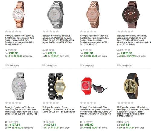 saldaorelogios - Mega Saldão de Relógios Femininos - DKNY, Guess, Seculus, Technos