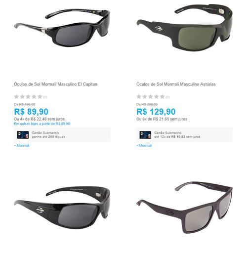 mormaii - Óculos de Sol Mormaii a partir de R$ 89,90