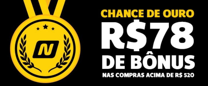 5291bfd958 bonus78 - Netshoes - Chance de Ouro - Cupom de R  78 de Desconto