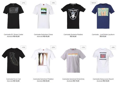 camisetas2 - 2 Camisetas Top Marcas por R$ 99,00