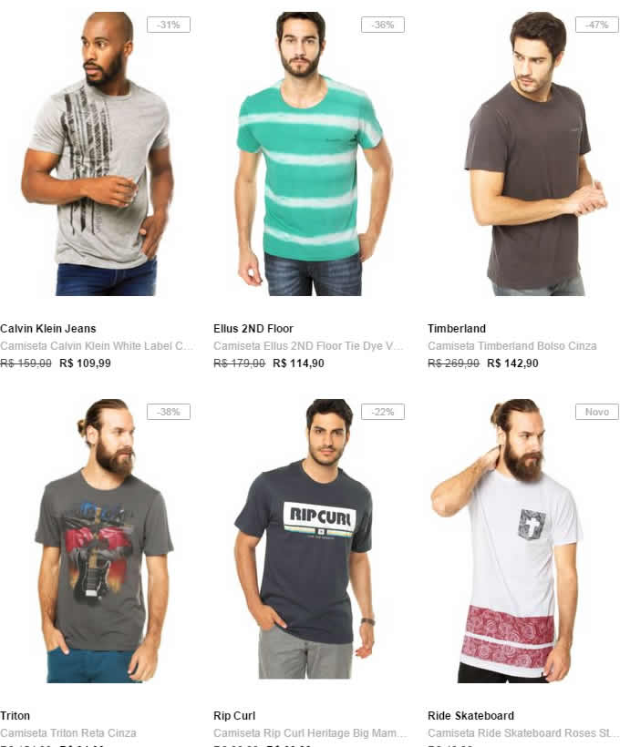 16986972d8 Black Friday Dafiti - Compre 2 Leve 3 Camisetas - Calvin Klein ...