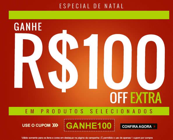 cupom100 - Cupom de R$ 100,00 na Kanui