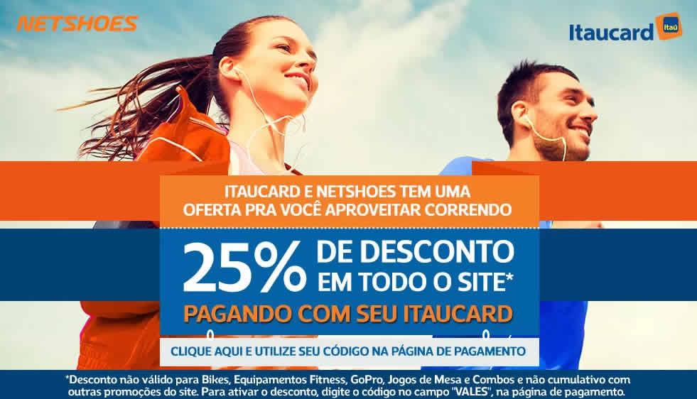 itau - Netshoes - 25% de Desconto em Todo o Site*