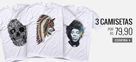 7ed54112bd927 Kanui - 3 Camisetas por R  79