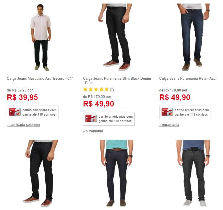 calcajeans - Americanas - Calças Jeans Masculinas a partir de R$49,90