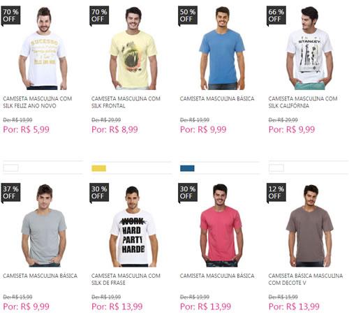 camisetas - Marisa - Camisetas Masculinas a partir de R$ 5,99