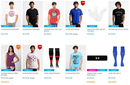 4produtos - Netshoes - 4 Produtos da Lista por R$ 99,00! Escolha os seus!