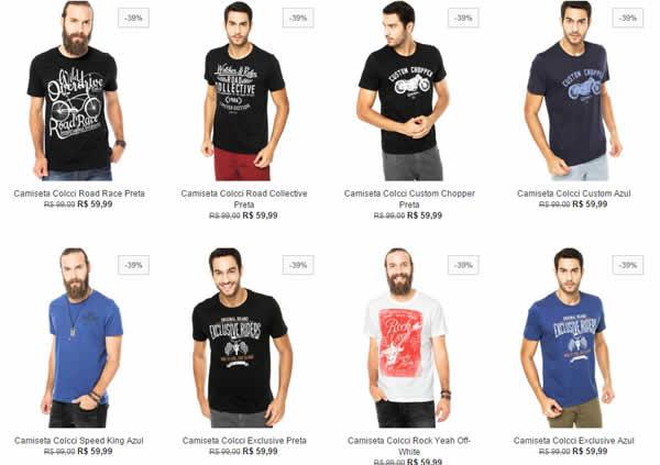 269a1590f camiseta colcci - Camiseta Colcci a partir de R$ 59,99 - Diversos Modelos