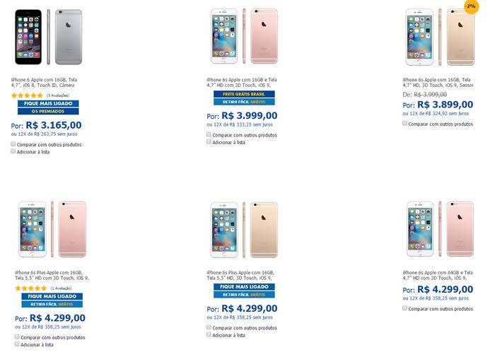 iphone6 - iPhone 6 e 6s com 5% no Cupom - 12x Sem Juros