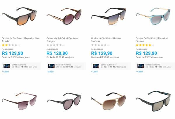 595508027edc0 Óculos de Sol Colcci com até 65% de desconto - A partir de R  129,90 ...