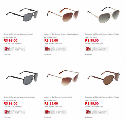Oculos de Sol Mormaii Sessão com Vários Modelos Por 89,10 em até 3x ... 50ca127f45