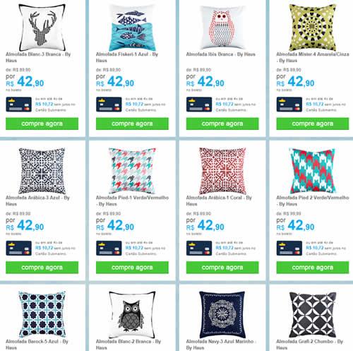 almofadas - Lindos e Variados Modelos de Almofadas Por Apenas R$ 42,90