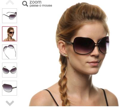 oculos evoke - Óculos de Sol Evoke Charlott Black Gray - Preto - R  89 17fc5b1aee