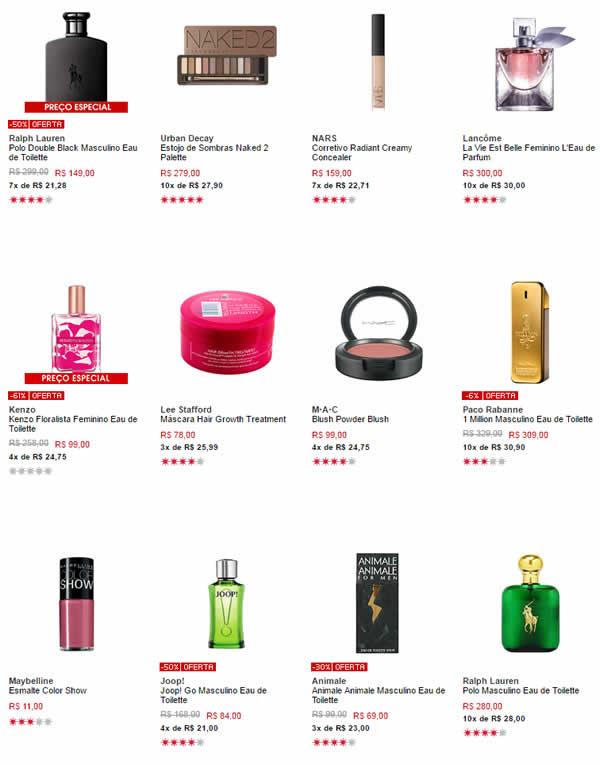 perfumes - Sephora - 20% de Desconto em Todo Site
