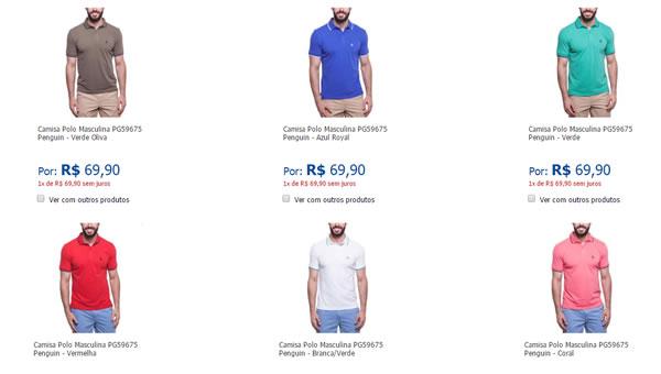 Camisa Polo Masculina PG59675 Penguin - R  69 fae4f7803f962