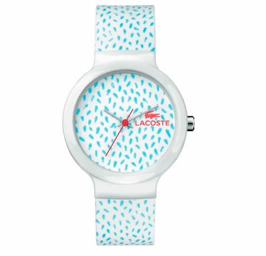 relogio lacoste - Relógio Lacoste Feminino Borracha Azul - LA00000475 - R$ 203,00