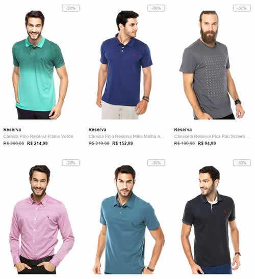 reserva - Reserva com até 65% OFF - Camisas, Camisetas, Bermudas e Tênis