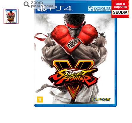 street fighter v - Game Street Fighter V BR - PS4 -  R$158,00