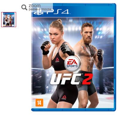 ufc2 - UFC 2 - PS4/ONE - Apenas R$ 182,49