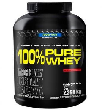 whey - 100% Pure Whey - 2Kg - Probiótica - R$ 179,90