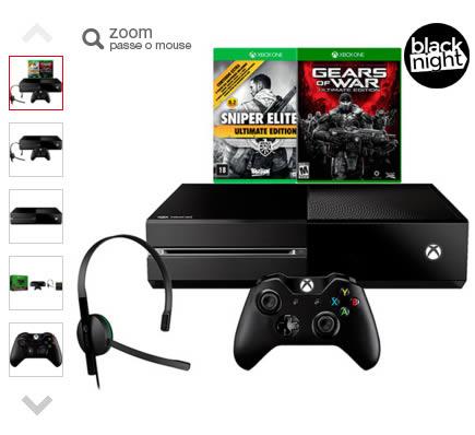 xboxone - Xbox One 500GB + 2 Jogos + Headset R$1.495,92