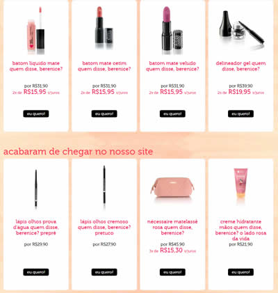 maquiagem - Dia das Mães - Quem disse, berenice? Cupom de 15% de desconto em todo site