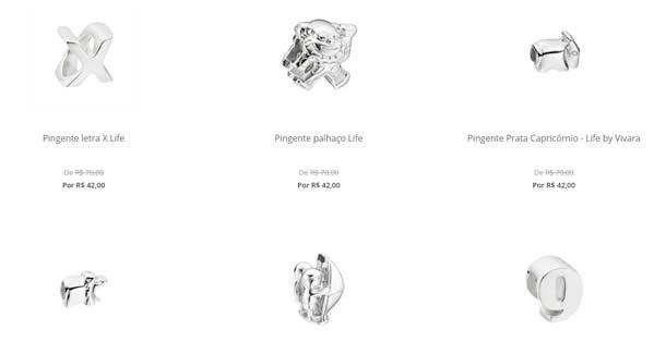 pingentes - Pingentes Life a partir de R$ 42,00