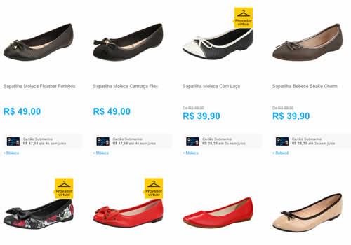 sapatilhas - Dia das Mães - 3 Sapatilhas por R$ 99,00