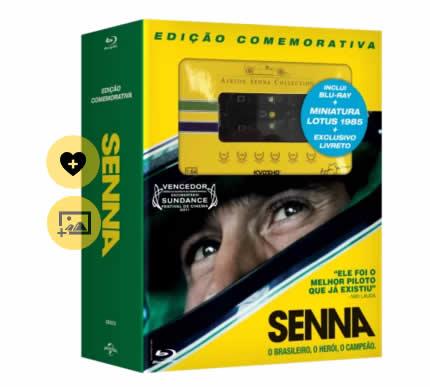 senna - Senna - Edição Comemorativa - Blu-Ray + Miniatura Lotus 1985 + Livreto - R$ 79,90