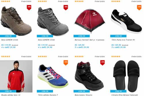 Netshoes - 2 Produtos da Lista por R  199 52a01ab817e68