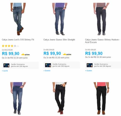 calca jeans - Submarino - Calça Jeans Masculina, Levi's e Guess por R$ 99,90
