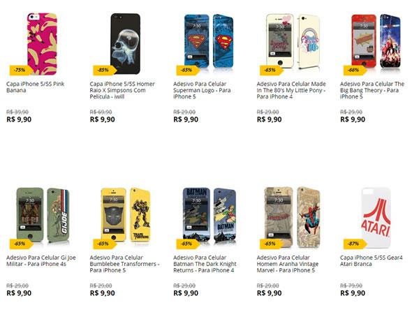 capas iphone - Saraiva - Capas iPhone 4 e 5 - R$ 9,90 - Diversos Modelos