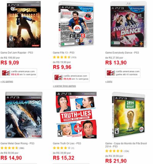 jogos ps3 2 - Jogos de Playstation 3 a partir de R$ 9,00