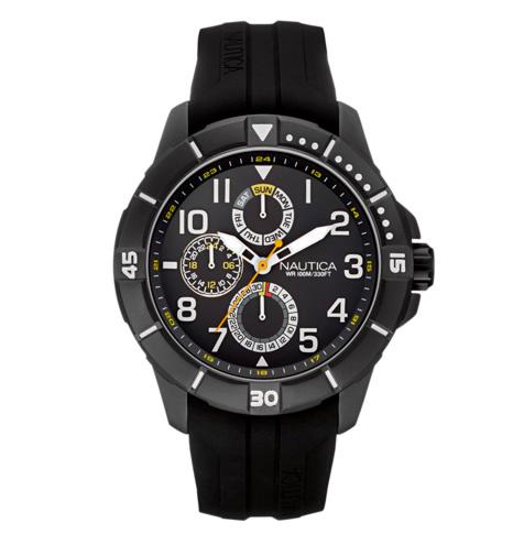nautica - Relógio Nautica Masculino Borracha Preta - NAI13504G - R$ 395,00
