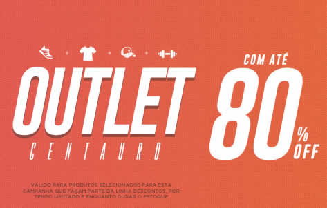 outlet - Outlet Centauro + Cupom - Diversos Produtos