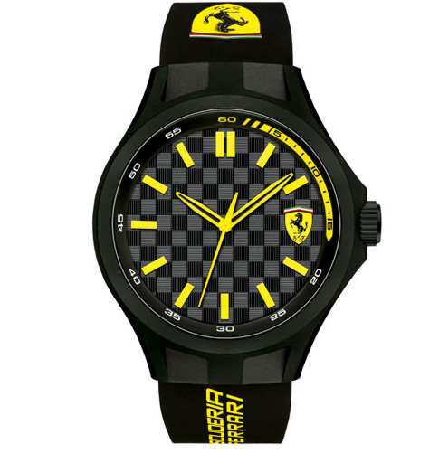 relogio ferrari - Relógio Scuderia Ferrari Masculino Borracha Preta - 830286 - FR00000161