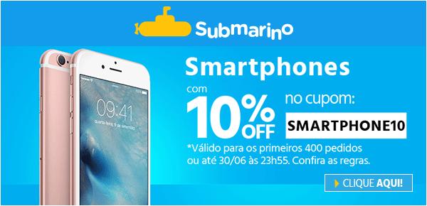 subjun afiliados cupom smartphones 600x290 2016 06 02 17 15 59 601 - Submarino - Cupom 10% OFF em Smartphones