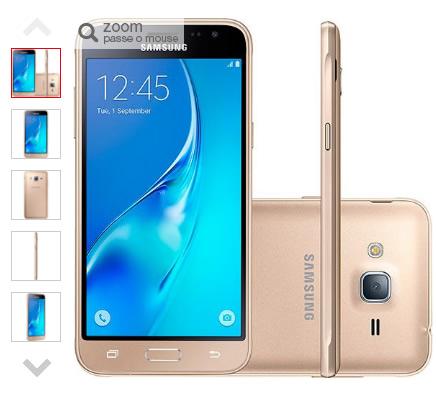 celular - Smartphone Samsung Galaxy J3 Dual Chip Android 5.1 4G - R$ 664,87