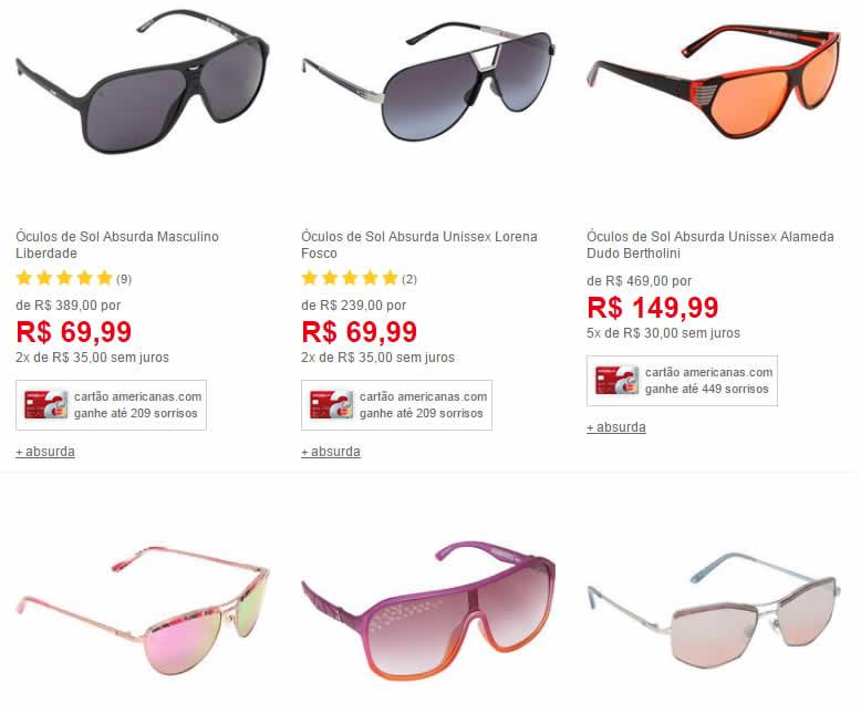 absurda oculos - Outlet - Óculos Absurda a partir de R 49,99 a0c8997dab