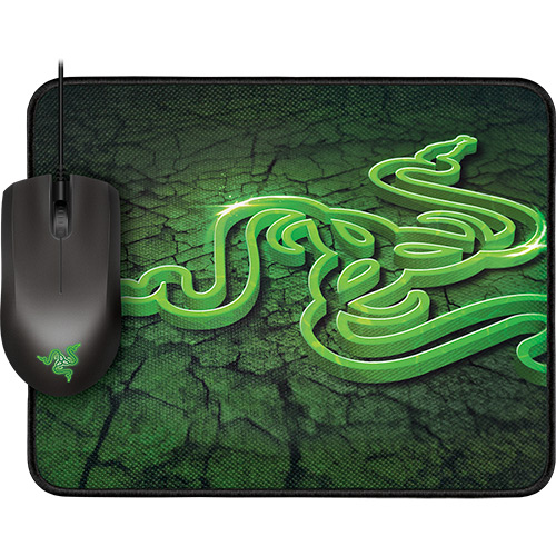 razer - Combo RAZER: Mouse Abyssus + Mousepad Goliathus Small Control - R$ 134,63
