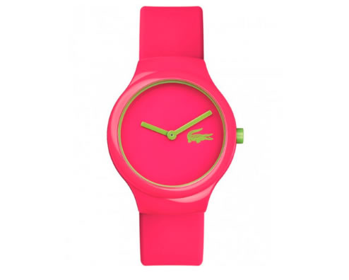 relogio lacoste - Relógio Lacoste Feminino Borracha Rosa - 2020098 - LA00000506 - R$ 350,00