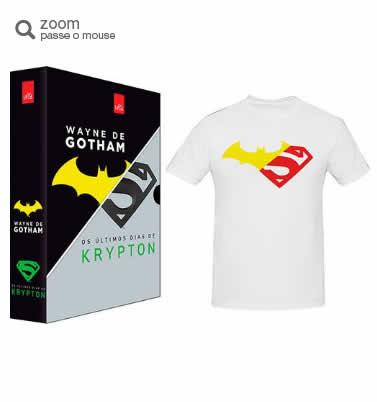 boxwayne - Box - Wayne de Gotham e Os Últimos Dias de Krypton + Camiseta - R$ 18,42