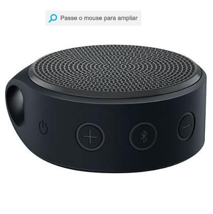 mini caixa - Mini Caixa de Som Wireless X100 Bluetooth Preto e Cinza - Logitech - R$ 89,99
