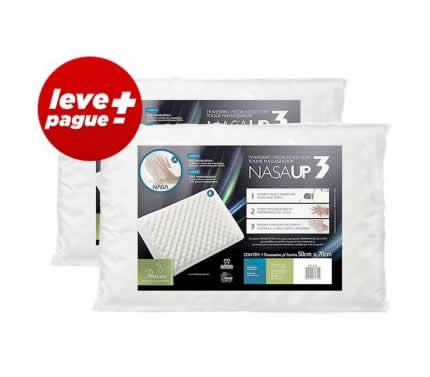 travesseiro - Kit Promocional 2 Travesseiros NasaUp - Fibrasca - R$ 59,90
